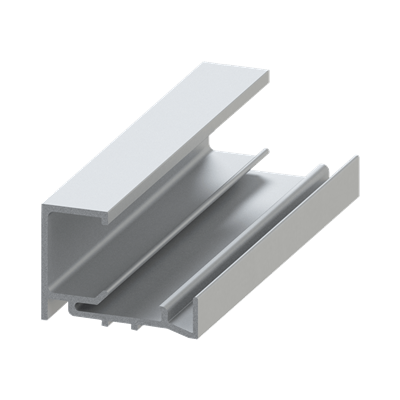 "CLR ANO CLIP SASH (BASE) FOR 1/4"" GLASS"