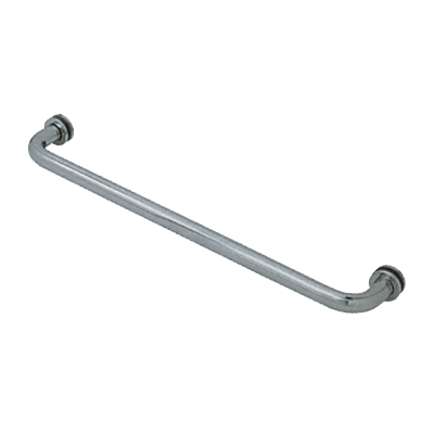 "BRS.NKL 24"" SINGLE-SIDED TOWEL BAR W/METAL WASHERS"