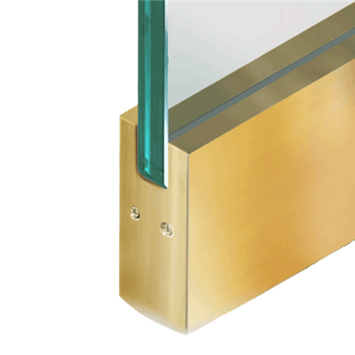 PL375 DRY-SET POLISHED BRASS RAIL W/O LOCK @36""