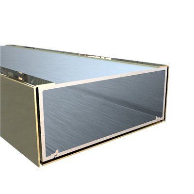 1-3/4 X 4-1/2 DOOR HDR POL BRASS PREP FOR OHC 72""